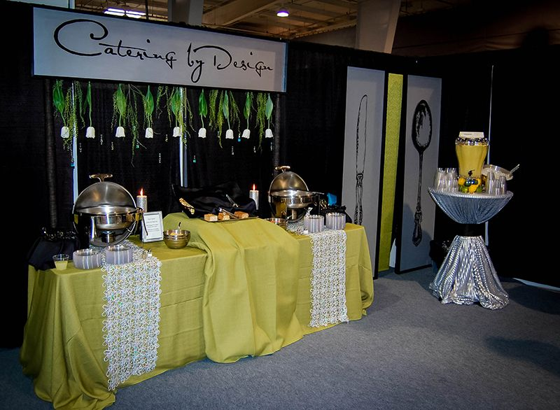 Caterer Booth Example By Catering By Design Bridal Show Booths Wedding Expo Booth Wedding Show Booth