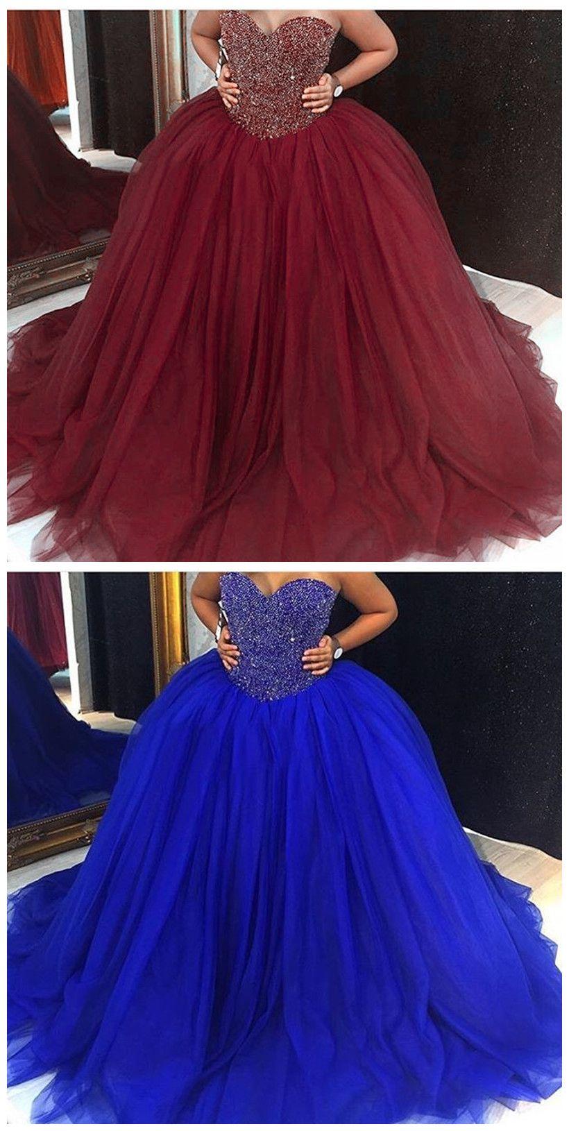 New arrival prom dressmodest prom dresssparkly burgundy prom