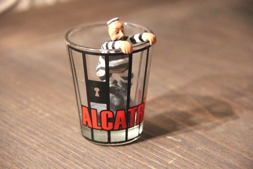 Vintage Alcatraz The Rock Souvenir 3d Shot Glass Prisoner