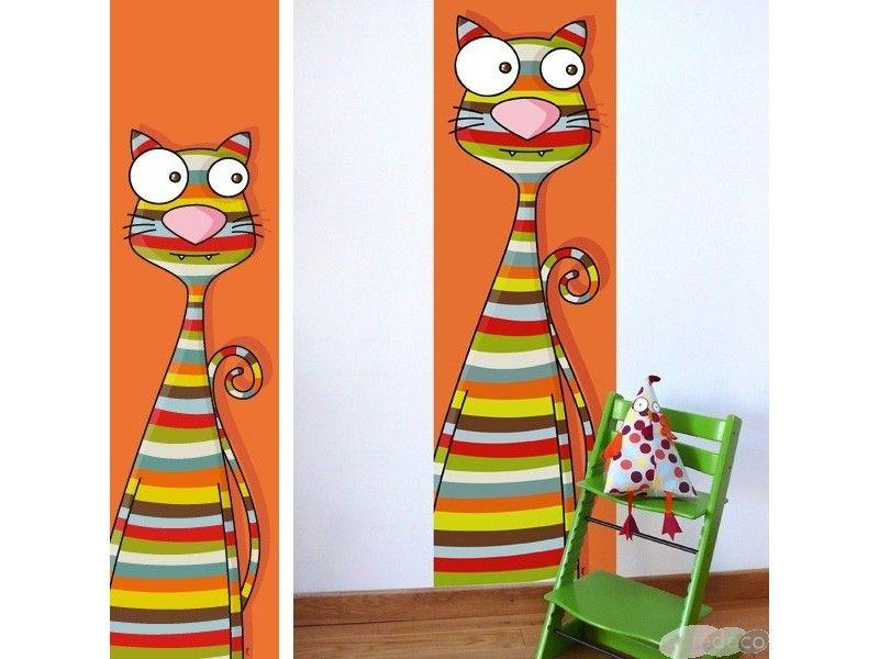 Papier peint animaux pour d corer une chambre de b b ou enfant chat rigolo cr par s rie golo - Decorer une chambre bebe ...