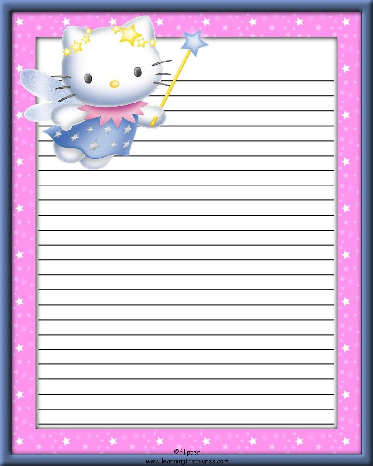 Fairy Kitty Stationery For Kids