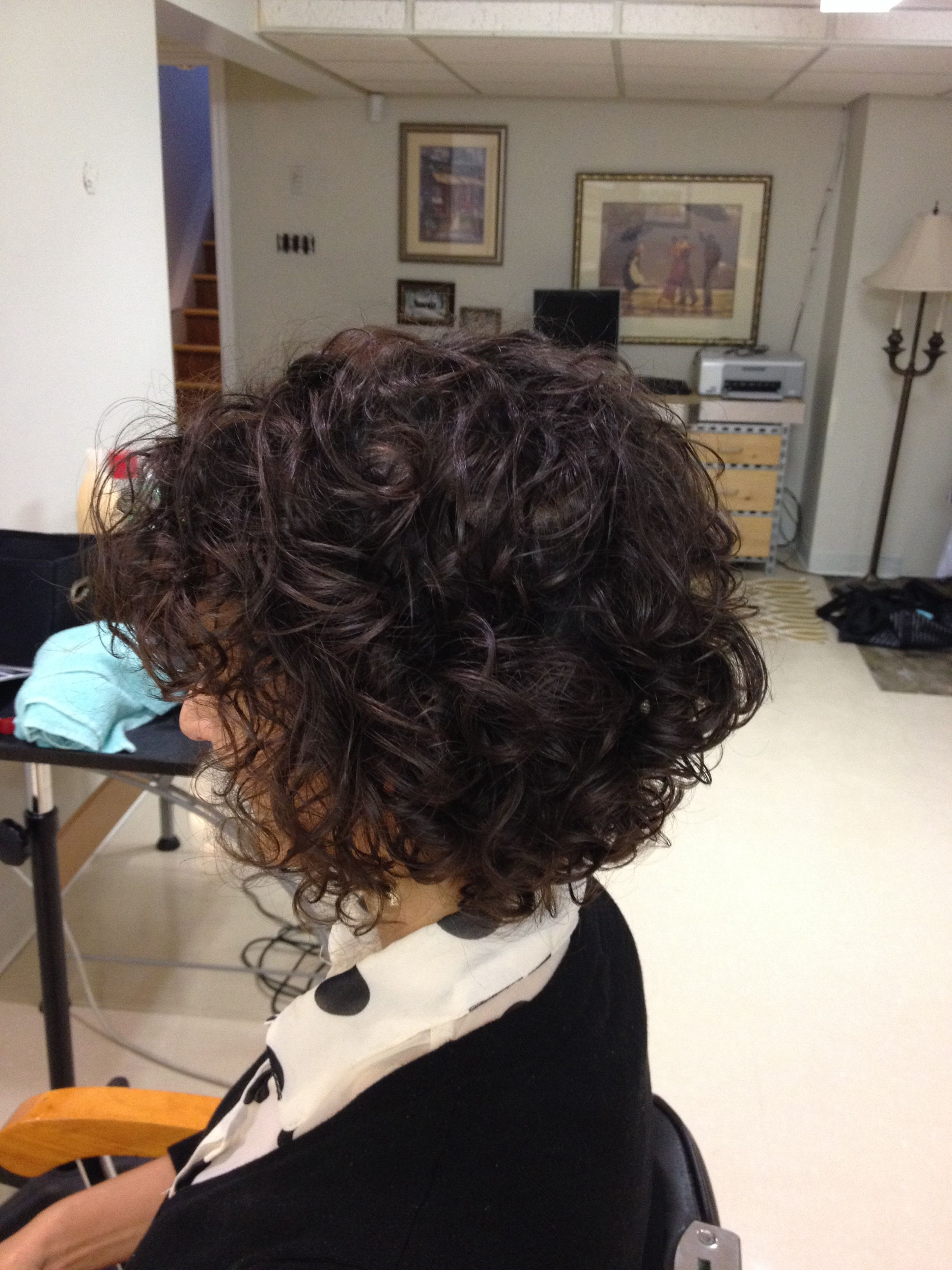 Inverted curly bob my style pinterest curly bobs and hair style