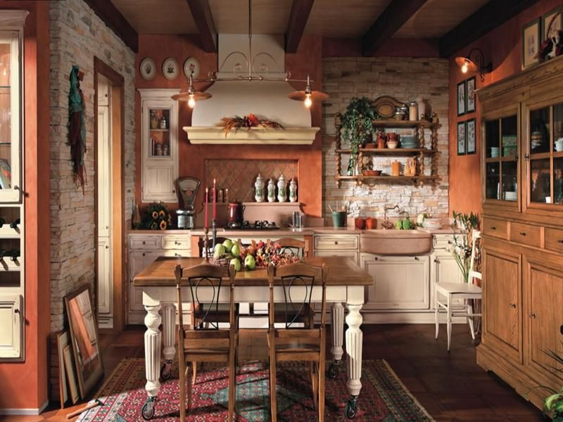 Vintage primitive kitchen designs related images of for Old country style kitchen