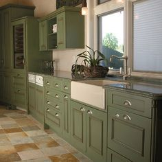 Olive Green Kitchen Google Search