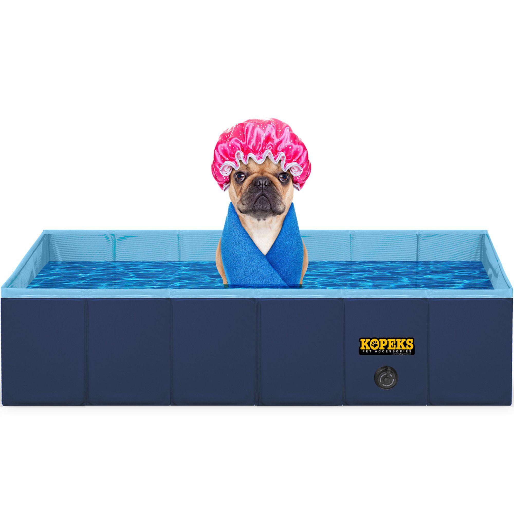 Kopeks Rectangular Outdoor Pet Blue Swimming Pool Large