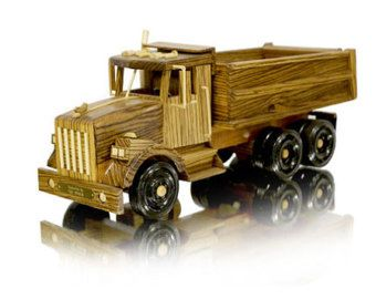 Kenworth Dump Truck- wood with nice detail.