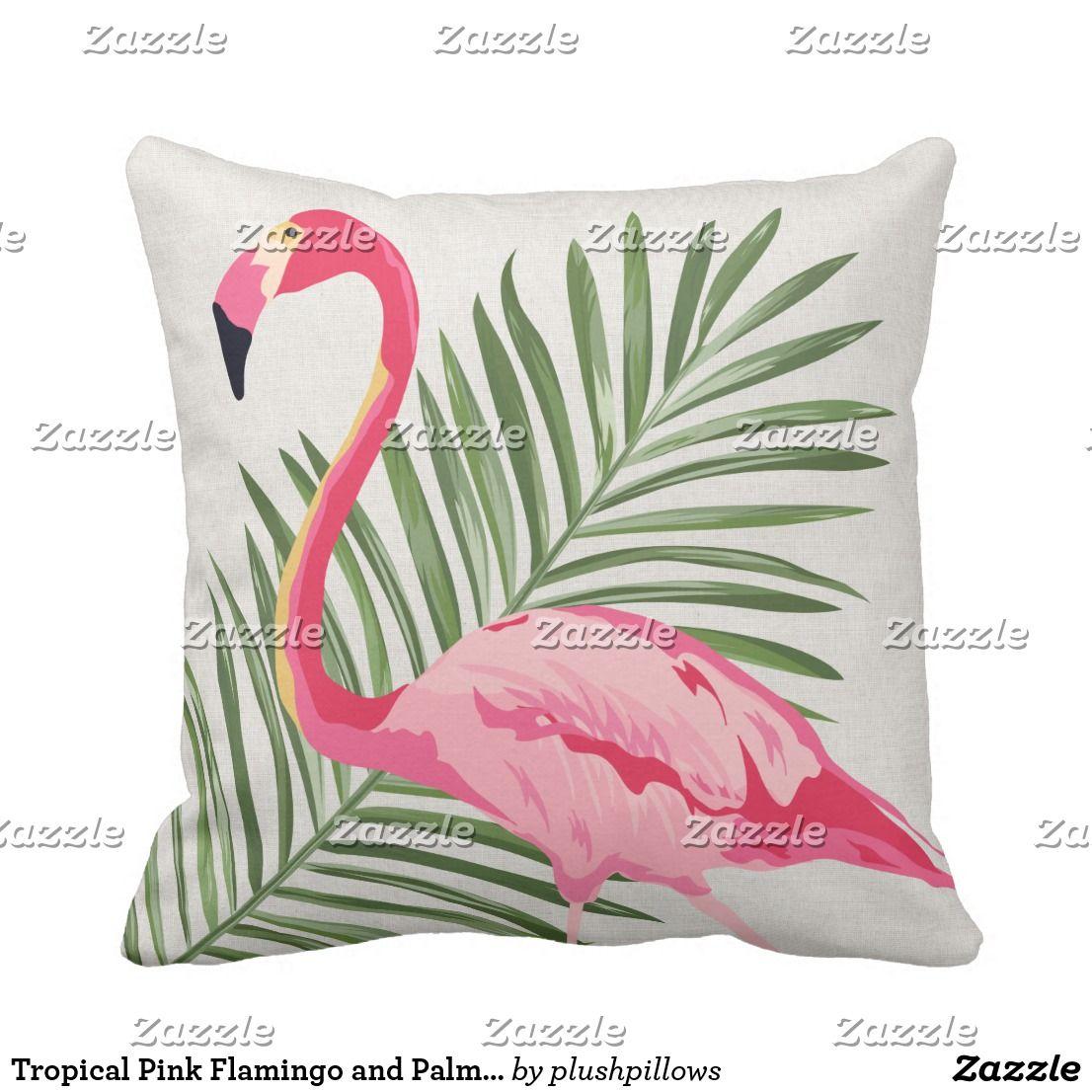 "Flamingo Stuffed Cushion Decorative Throw Pillow with Zipper 15.75/"" x 15.75/"""
