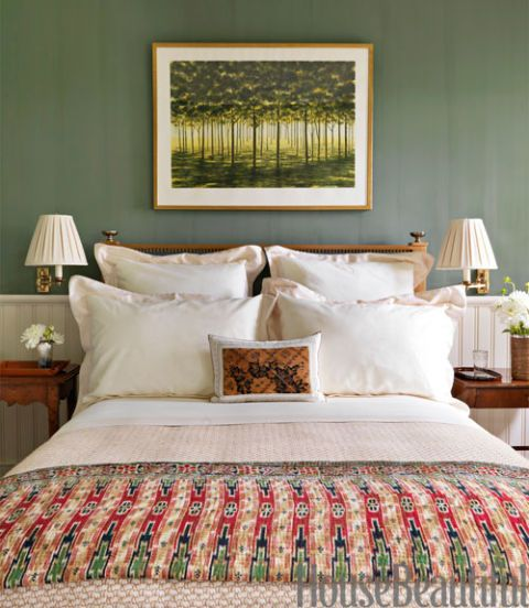Green Bedroom Paint Pleasing What The Color Of Your Bedroom Says About You  Hamptons Bedroom Design Decoration