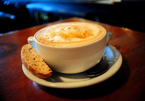 Cappuccino and Biscotti  © Michael P. D'Arco