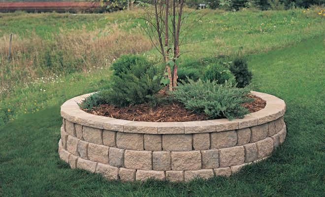 Anchor Meadow Stone 174 Retaining Wall Raised Tree