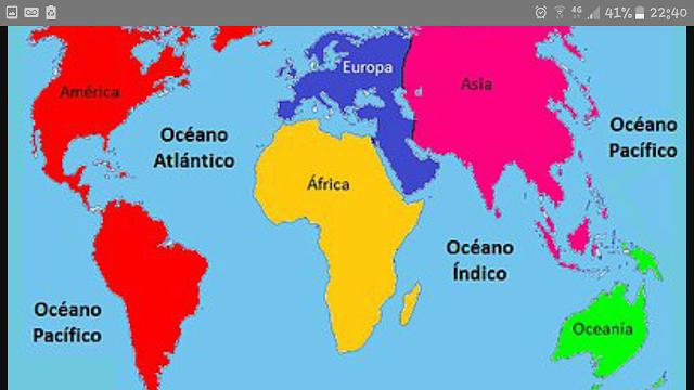 Planisferio Océanos Y Continentes Tropic Of Capricorn Antarctic Circle Continents