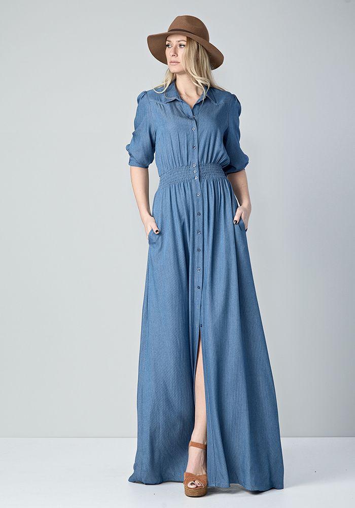 f425b4df56e Maxi φόρεμα τζιν | STYLING, 2019 | Τζιν, Φορέματα και Ρούχα