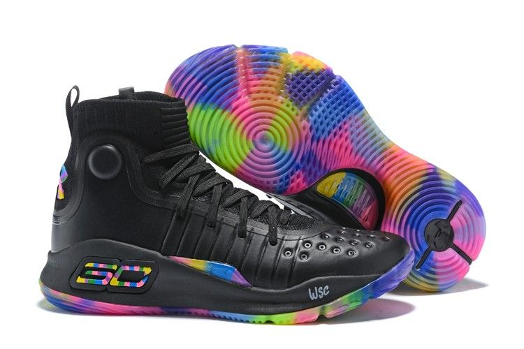 "3c4ff235587 2018 Under Armour Curry 4 ""Fruity Pebbles"" Black Multi-Color in 2019 ..."
