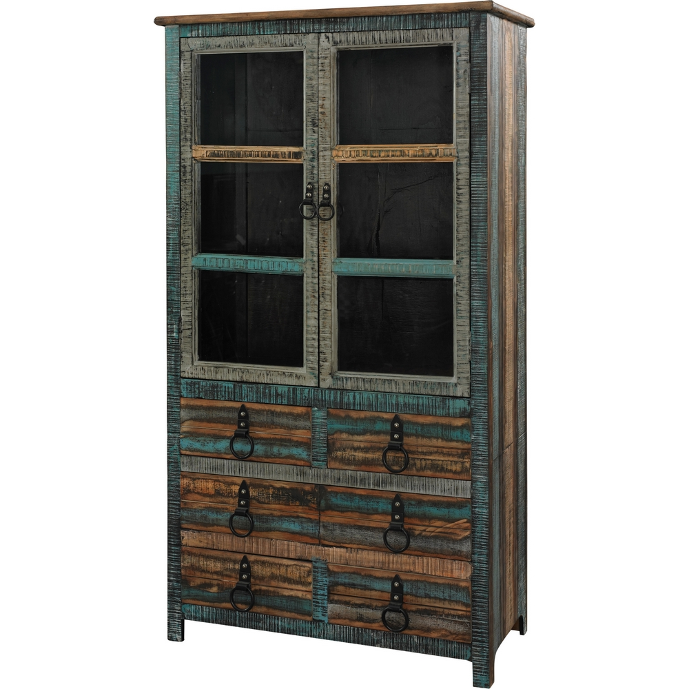 With An Antique, Weathered Finish And Distressed, Lived In Design, This  Rustic Cabinet Ensures A Unique Addition To Your Home Décor.