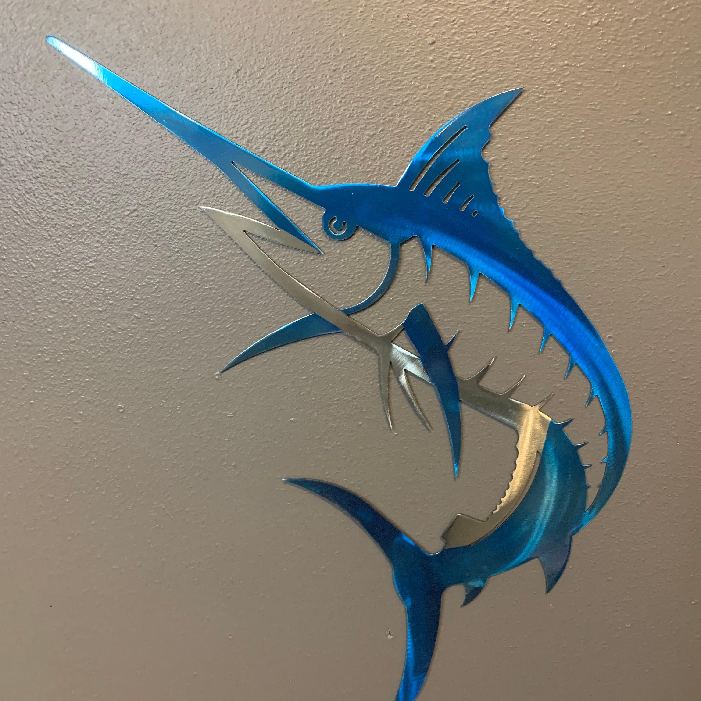 SHARK Ocean Marine Beach House Metal Wall Art Decor