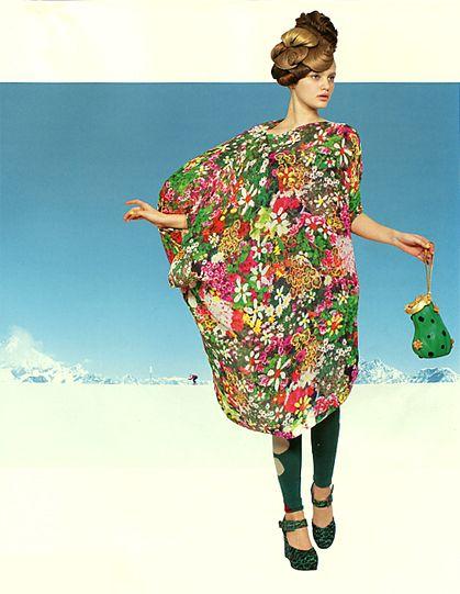 Tsumori Chisato Japanese Fashion Designer Colection Fhasion Magazine Soen 2013 Frower Dress