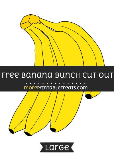 graphic relating to Banana Printable titled Totally free Banana Bunch Slash Out - Hefty measurement printable Totally free