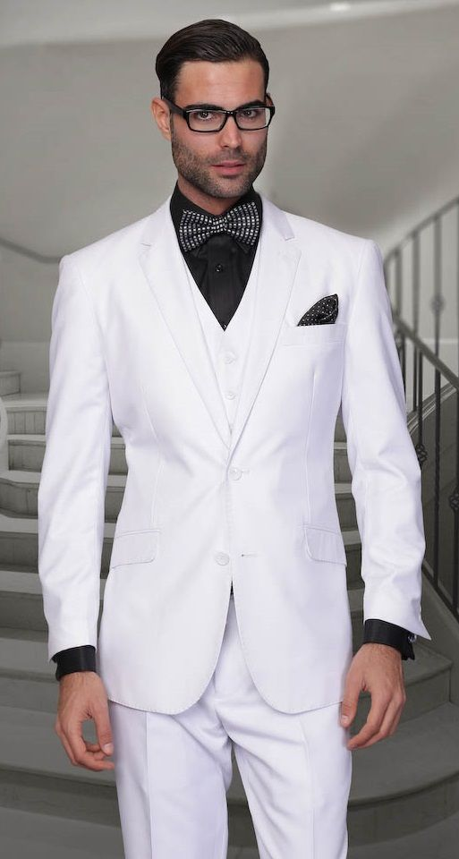 91eb84a06 Click to Buy << Classic Style Two Button White Groom Tuxedos Groomsmen  Men's Wedding Prom Suits Bridegroom (Jacket+Pants+Vest+Tie) K:949 #Affiliate