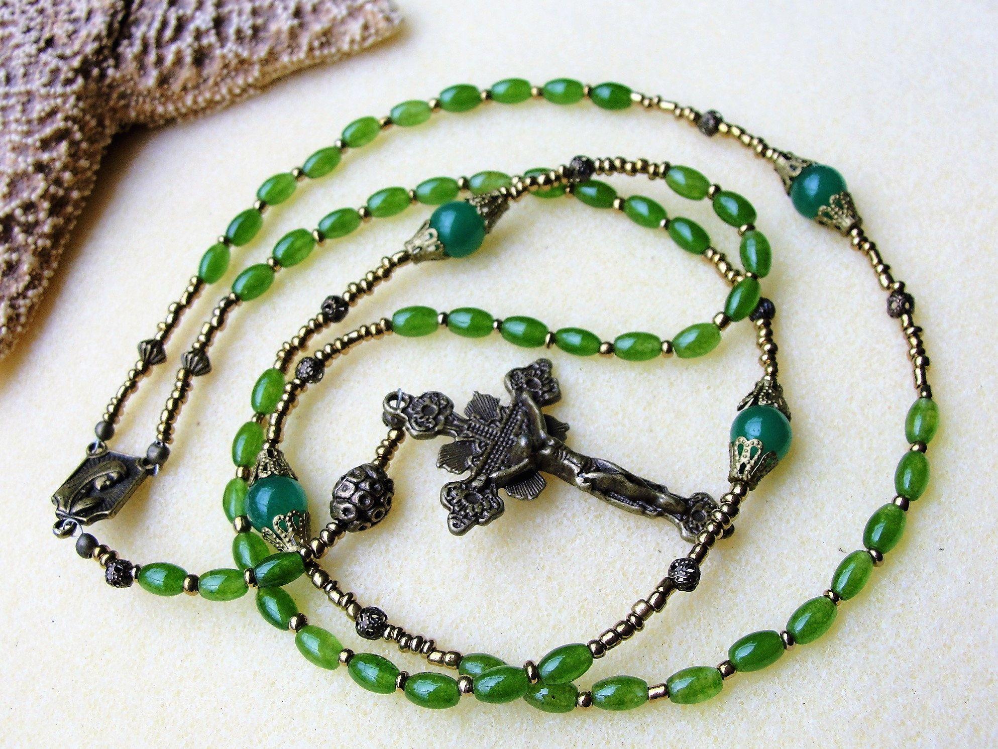 Rosary beadsrosarycatholic rosarybaptism giftcommunion giftmens
