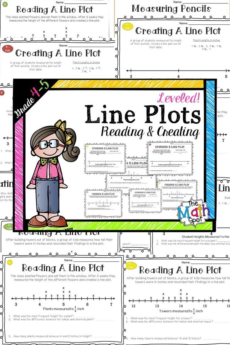 worksheet Line Plot Worksheets 4th Grade line plot worksheets with fractions math and differentiated reading plots creating third grade mathfourth