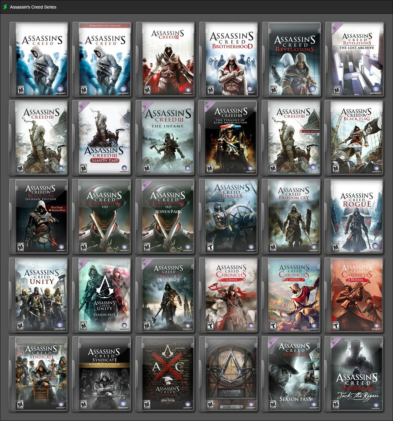 All Assassin S Creed Games Assassins Creed Game Assassins