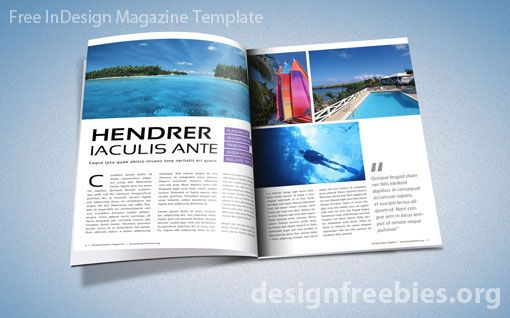 Free Adobe InDesign Magazine Template InDesign