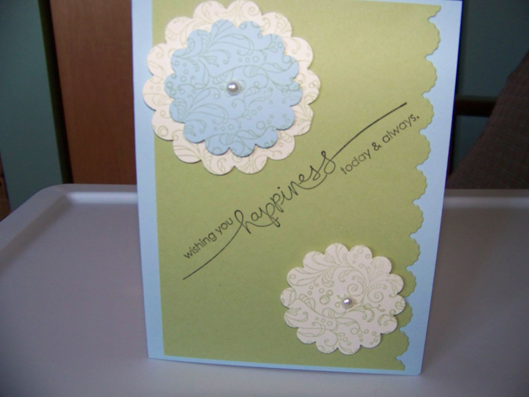 My card for su meeting vintage flower stampin up set certainly