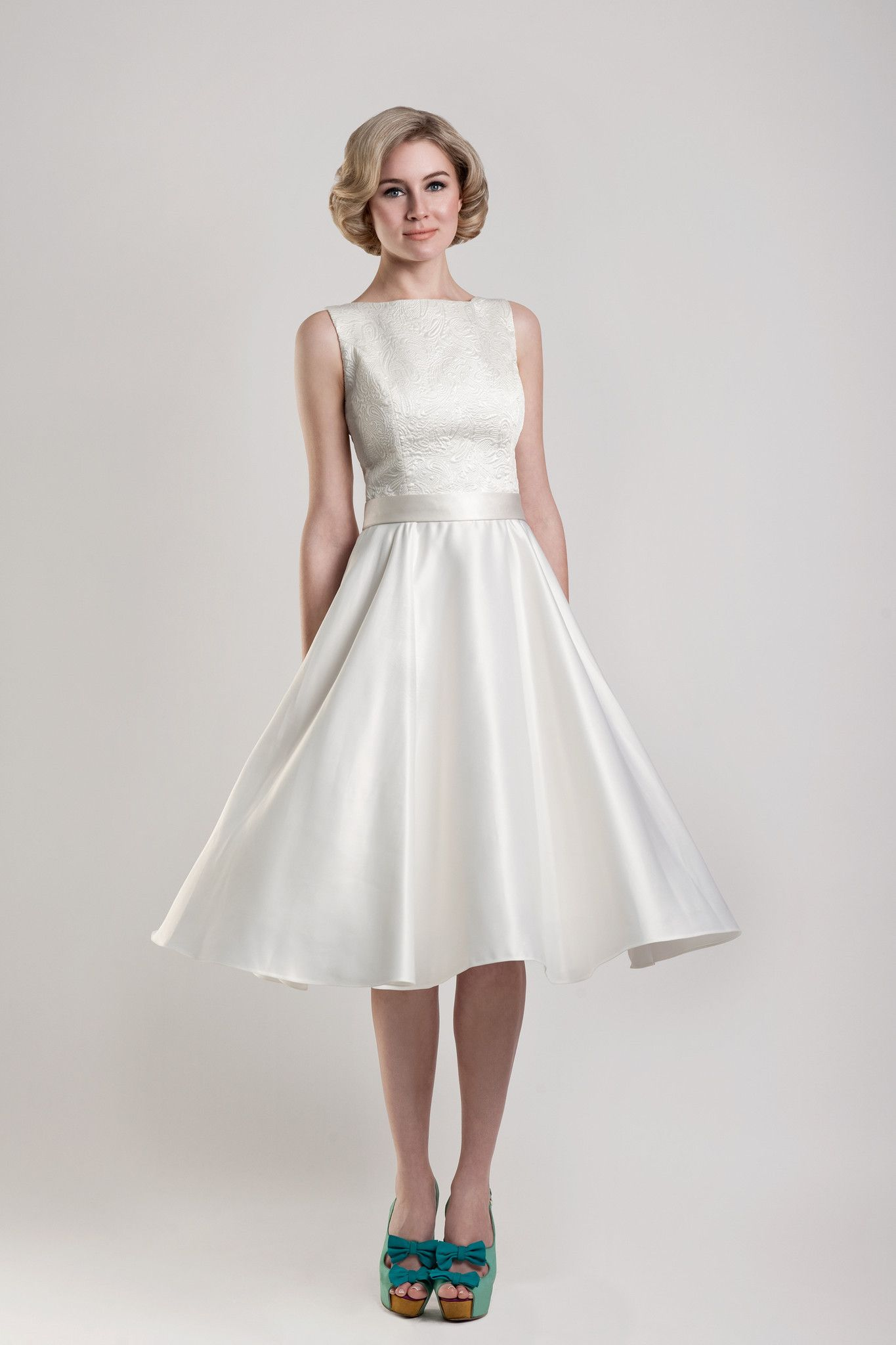 Short wedding reception dress  tea length wedding dresses  Tea Length wedding dresses  Pinterest