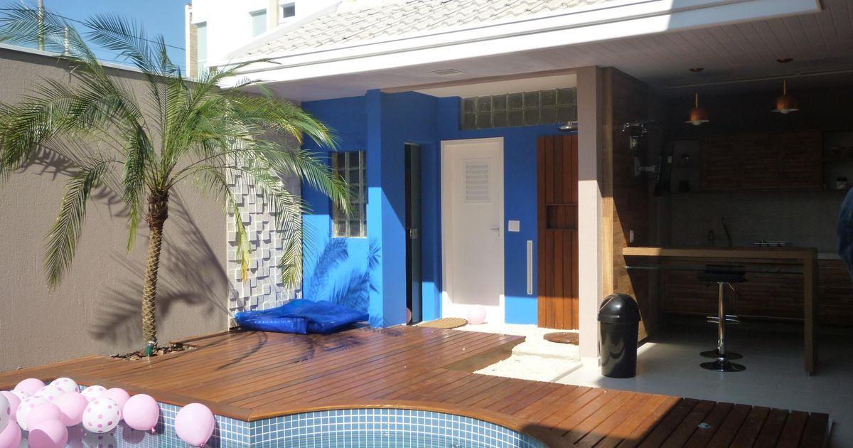 Deck de Madeira #decoração #projeto #arquitetura #piscina #design