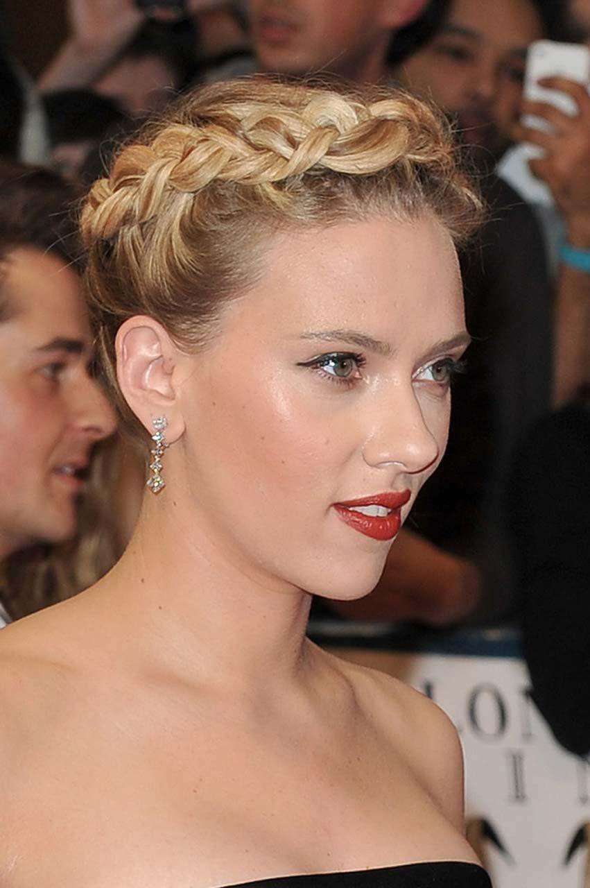 Scarlett johanssonus crown hairstyle hairstyles hairstyle hair