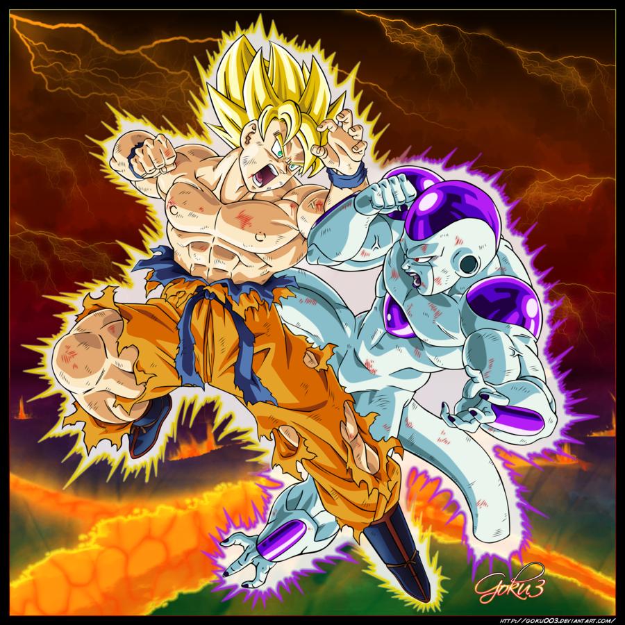Super Saiyan Goku vs Frieza (Full Power) | Dragon ball | Pinterest ...