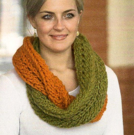 Infinity Scarf Pattern This Fun To Knit Infinity Scarf Is A Super