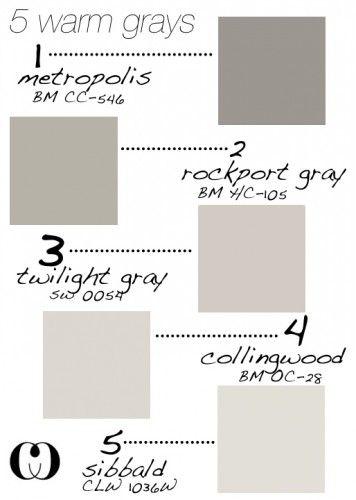5 Warm Gray Paint Colors From Design Blog Calloohcallay Ca