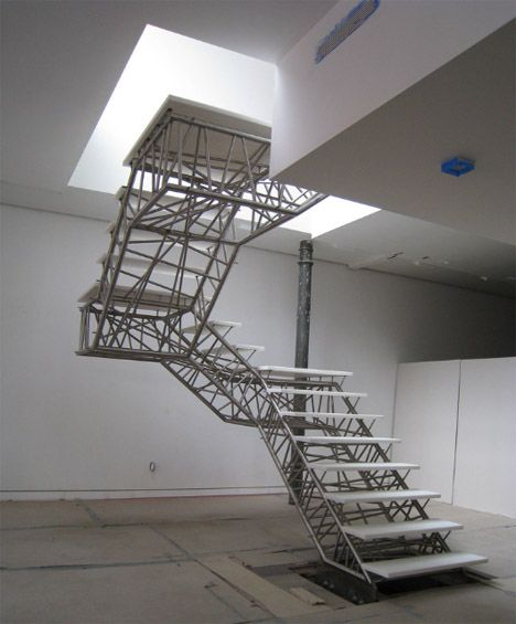 Caliper Studio Genetic Stair: Industrial-style-truss-staircase-design
