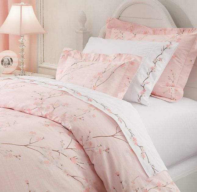 European Cherry Blossom Duvet Cover European Embroidered Cherry