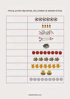 Belajar Anak Tk Mencocokkan Angka Dengan Gambar 1 10 Matematika