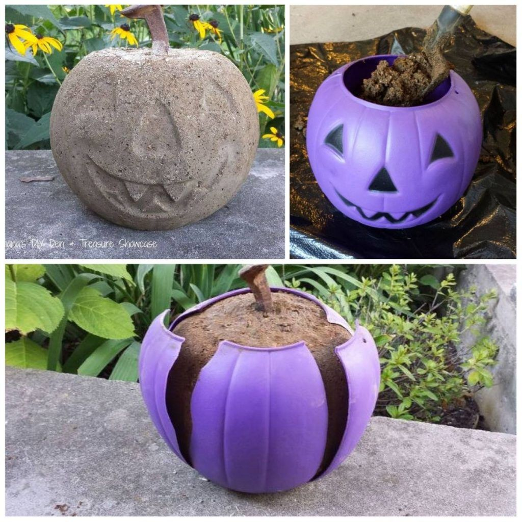 SO COOL!! Make A Jack-o-lantern Out Of Concrete And A