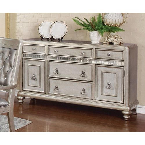 50 Cool And Creative Shabby Chic Dining Rooms: Dining Room Buffet Hollywood Regency Glam Sideboard