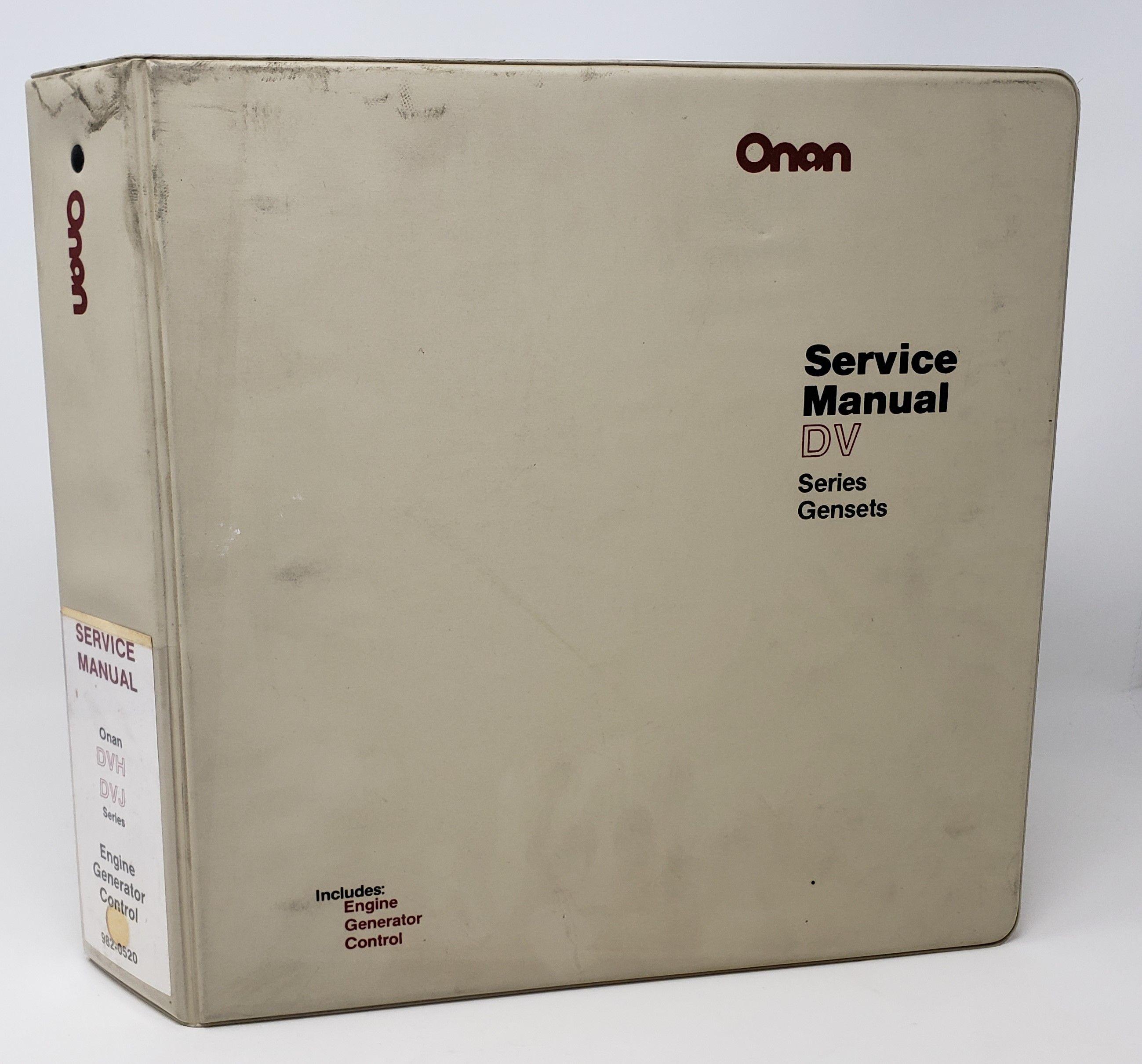Onan Dvh Dvj Series Engine Generator Control Service Manual Set 982 0520 Onan Welder Generator Manual