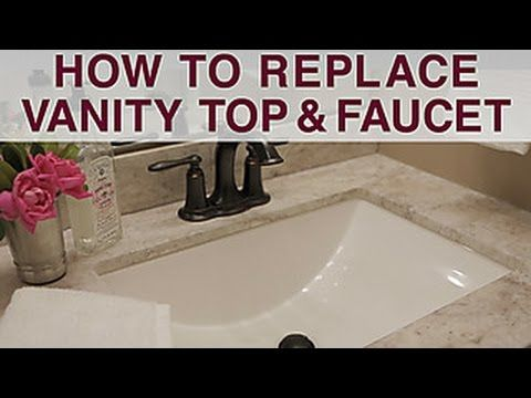 How To Change Your Bathroom Counter Google Search Diy Bathroom Vanity Bathroom Sink Diy Diy Vanity