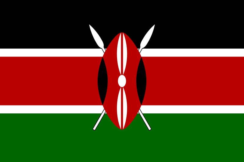The flag of Kenya Swahili Bendera ya Kenya was officially