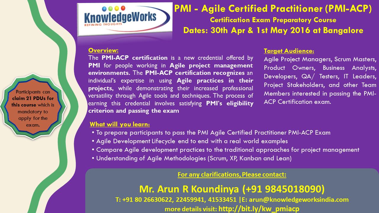 Pmi agile certified practitioner pmi acp exam preparatory course pmi agile certified practitioner pmi acp exam preparatory course dates 30th 1betcityfo Images