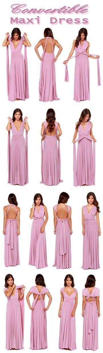 8 Way Convertible Maxi Dress ❤ #bridesmaid