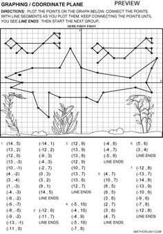 Printable Fun Coordinate Graph Worksheets | Graphing / Coordinate ...