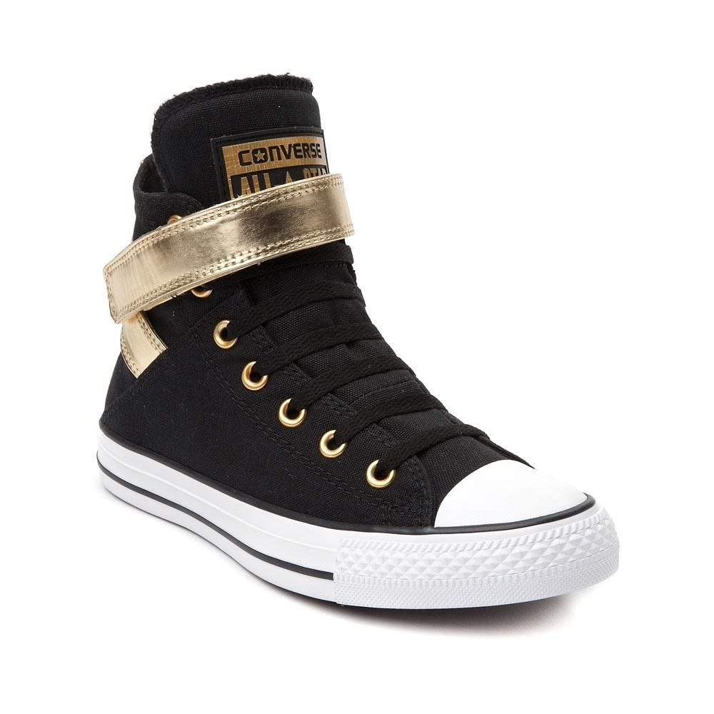 Converse CT All Star Hi Black Gold Womens Trainers -