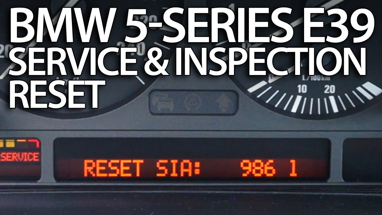 How To Reset Service Reminder In Bmw E39 5 Series Oil Inspection Bmw E39 Bmw Car Maintenance