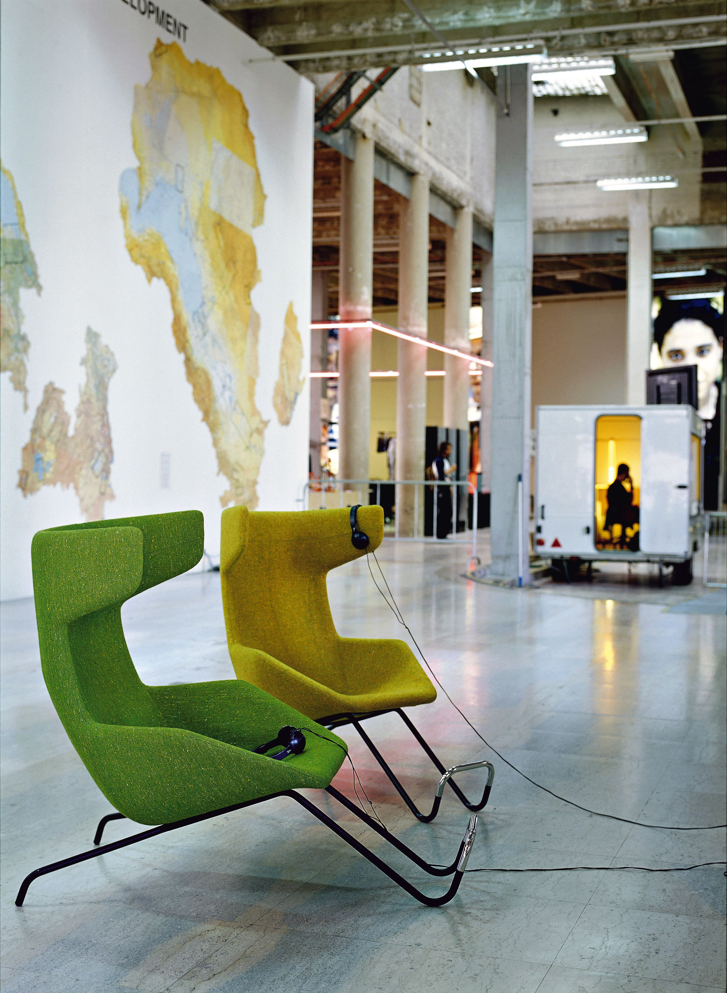Wing chair take a line for a walk from moroso designed by alfrede