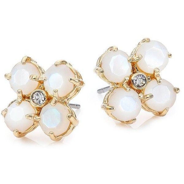 e695c161c Kate Spade New York Central Park Pansy Mother-Of-Pearl Stud Earrings ($58)  ❤ liked on Polyvore
