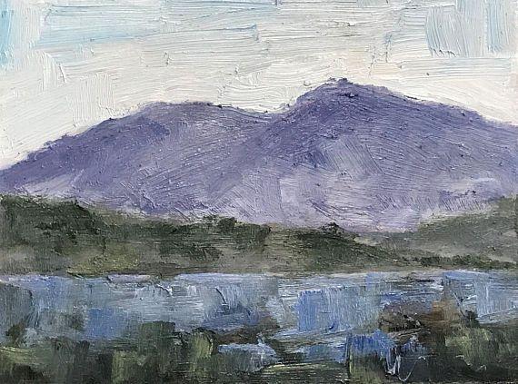 Original Oil Painting Plein Air Landscape Mount Diablo California Original Oil Painting Original Oil Plein Air Landscape