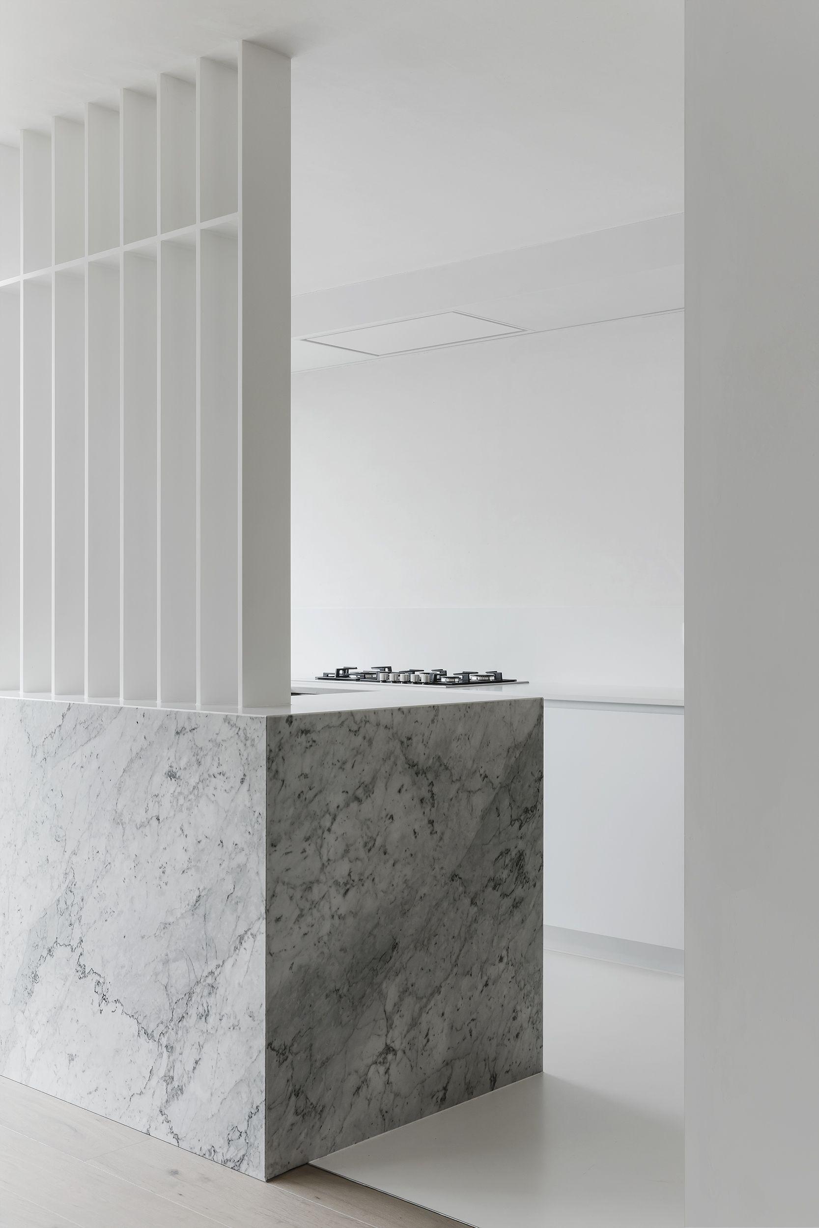 Kitchen in Carrara by Jo Wynant - Residence WH in Kortrijk Belgium ...